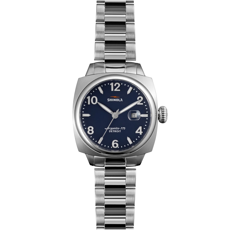 Shinola s0110000299 womens brakeman silver tone quartz watch for Celebrity quartz watch