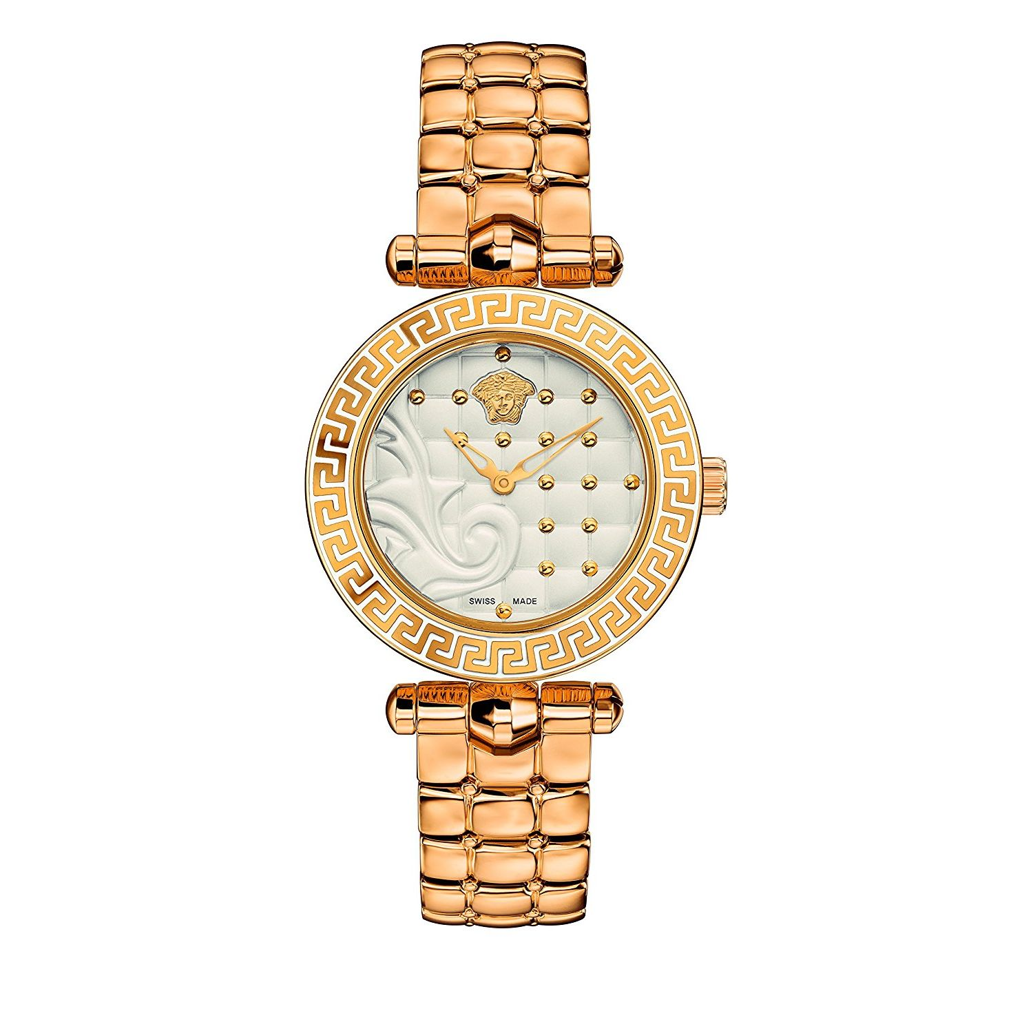57e81ec1 Versace VQM060015 Womens MICRO VANITAS Gold Tone Quartz Watch