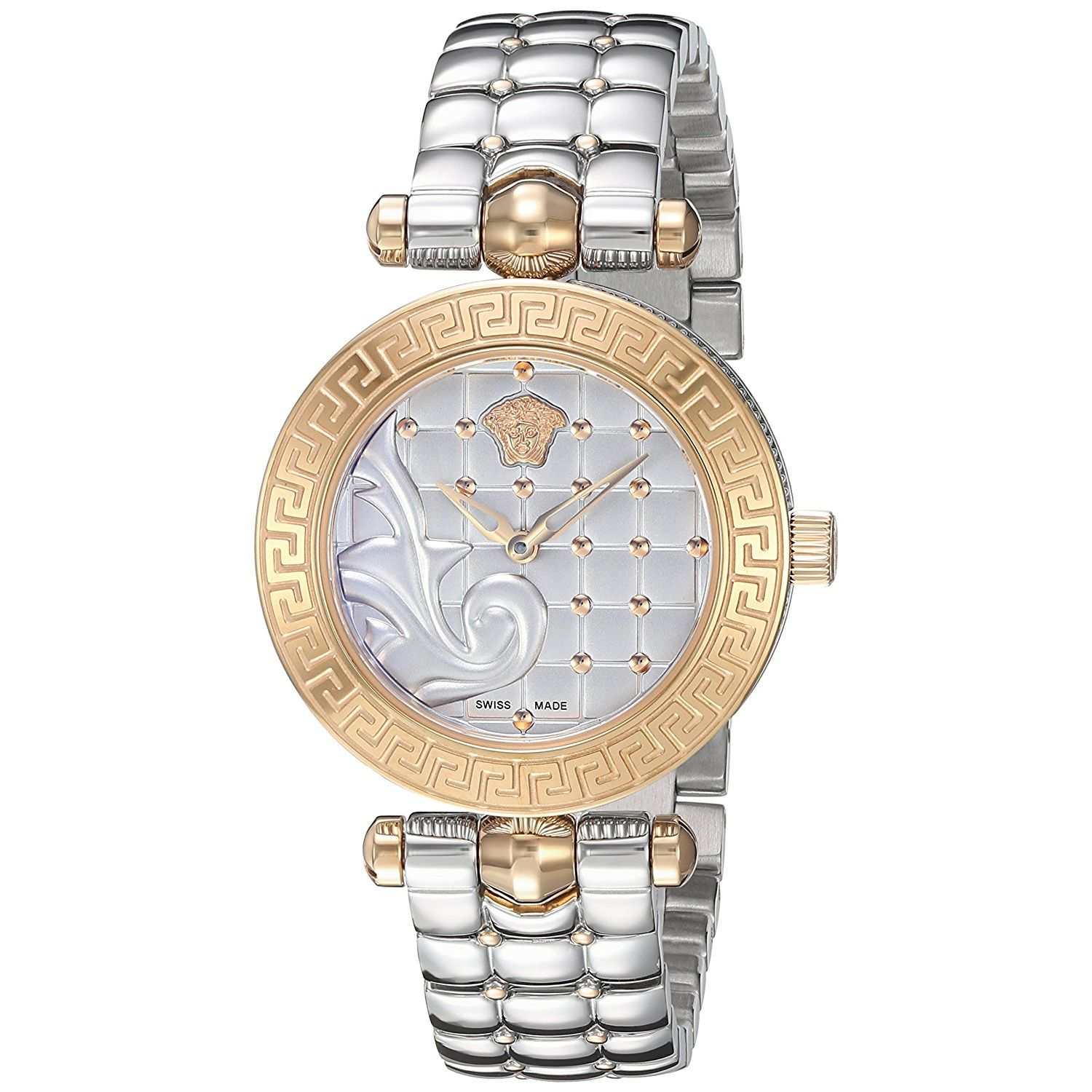 def47600 Versace VQM110016 Womens MICRO VANITAS Two Tone Quartz Watch