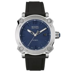 Bulova-63B190-Mens-Percheron-Silver-Tone-Automatic-Watch