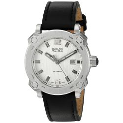 Bulova-63B191-Mens-Percheron-Silver-Tone-Automatic-Watch