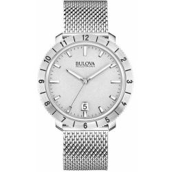 Bulova-96B206-Mens-Accutron-II-Silver-Quartz-Watch