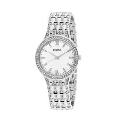 Bulova-96L242-Womens-Crystals-collection-Silver-Quartz-Watch