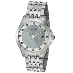 Bulova-96P174-Womens-Ladies-Diamonds-White-Quartz-Watch