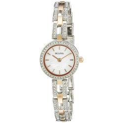 Bulova-98L212-Womens-Crystal-Two-Tone-Quartz-Watch