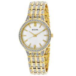 Bulova-98L234-Womens-Crystals-collection-Gold-Tone-Quartz-Watch