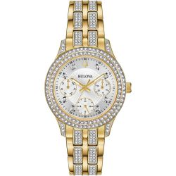 Bulova-98N112-Womens-Crystal--Silver-Quartz-Watch