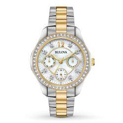 Bulova-98N114-Womens-Crystal--Mother-of-Pearl-Quartz-Watch