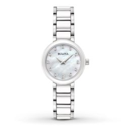 Bulova-98P158-Womens-Ladies-Diamond-Mother-of-Pearl-Quartz-Watch