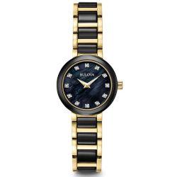 Bulova-98P159-Womens-Ladies-Diamond-Black-Quartz-Watch