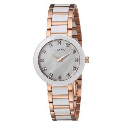 Bulova-98P160-Womens-Ladies-Diamond-White--Quartz-Watch