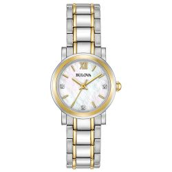 Bulova-98P165-Womens-Ladies-Diamond-Mother-of-Pearl-Quartz-Watch