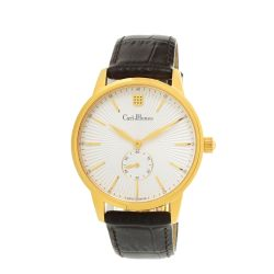 Carl-Jhones-138-101-B16-Mens-Plume-Gold-Gold-Tone-Quartz-Watch