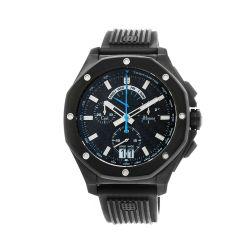 Carl-Jhones-138-103-B16-Mens-Respire-Blue-Chronograph-Black-Quartz-Watch