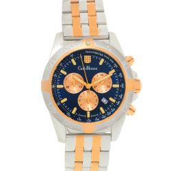 Carl-Jhones-138-107-D16-Mens-Altisimo-Two-Tone-Chronograph-Blue-Quartz-Watch