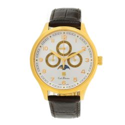 Carl-Jhones-138-108-B16-Mens-Lunae-Gold-Chronograph-Gold-Tone-Quartz-Watch