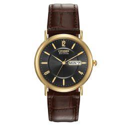 Citizen-BM8242-08E-Mens-Brown-Leather-Black-Eco-Drive-Watch