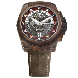 Corum-A082-03927-Mens-Admiral-AC-One-45-Squelette-Red-Automatic-Watch