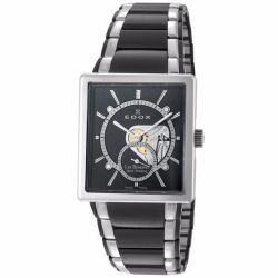 Edox-72012-357N-NIN-Mens-Stainless-Steel-Black-Mechanical-Watch