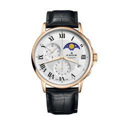 Edox-01651-37J-AR-Mens-Les-Bemonts-Gold-Tone-Quartz-Watch
