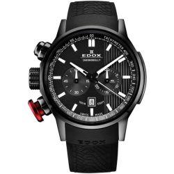 Edox-10302-37N-GIN-Mens-Chronorally-Black-Quartz-Watch
