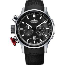 Edox-10302-3-GIN-Mens-Chronorally-Gray-Quartz-Watch
