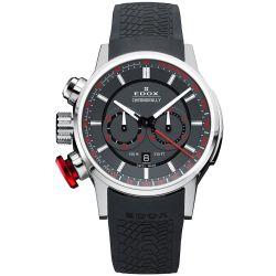 Edox-10302-3-GR3-Mens-Chronorally-Gray-Quartz-Watch