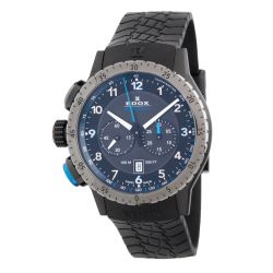 Edox-10305-37GNBU-NBU1-Mens-Chronorally-1-Black-Quartz-Watch