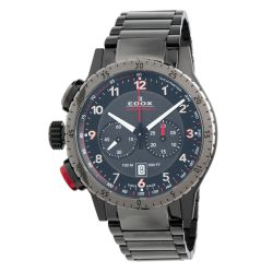 Edox-10305-37GNRM-NR1-Mens-Chronorally-1-Black-Quartz-Watch
