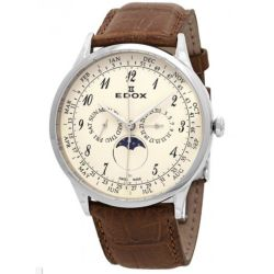 Edox-40101-3C-BEBN-Mens-Les-Vauberts-White-Quartz-Watch