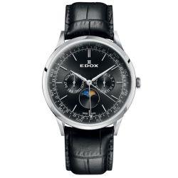 Edox-40101-3C-NIN-Mens-Les-Vauberts-Black-Quartz-Watch