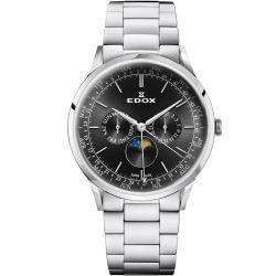 Edox-40101-3M-NIN-Mens-Les-Vauberts-Black-Quartz-Watch