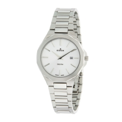 EDOX-57005-3M-AIN-Womens-Delfin-Silver-Quartz-Watch
