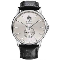 Edox-64012-3-AIN-Mens-Les-Bemonts-Silver-Tone-Quartz-Watch