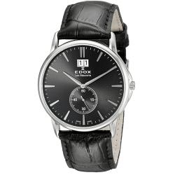 Edox-64012-3-NIN-Mens-Les-Bemonts-Black-Quartz-Watch