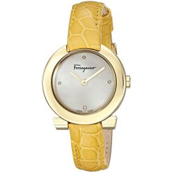 Ferragamo-FAP040016-Womens-GANCINO-Gold-Tone-Quartz-Watch