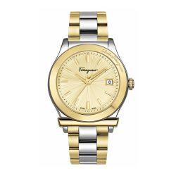 Ferragamo-FF3340017-Mens-1898-Gold-Tone-Quartz-Watch