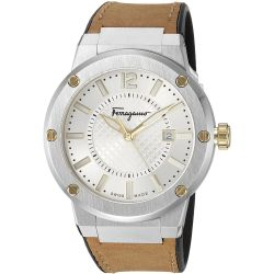 Ferragamo-FIF080016-Mens-F-80-Two-Tone-Quartz-Watch