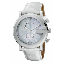 Gucci-YA101342-Mens-G-Chrono-White-Quartz-Watch
