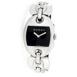 Gucci-YA121313-Womens-Marina-Chain-Bangle-Black-Quartz-Watch