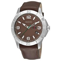 Gucci-YA126219-Mens-G-Timeless-Brown-Quartz-Watch
