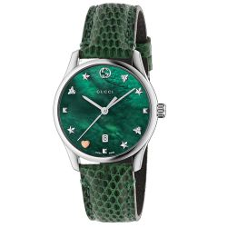 Gucci-YA1264042-Womens-G-Timeless-Green-mother-of-pearl-Quartz-Watch
