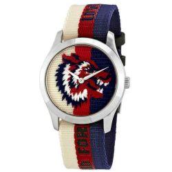 Gucci-YA1264059-Mens-G-Timeless-White-Red-Blue-Quartz-Watch
