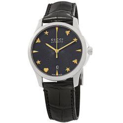 Gucci-YA126469-Womens-G-Timeless-Black-Automatic-Watch