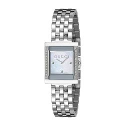 Gucci-YA128405-Womens-G-Frame-White-Quartz-Watch