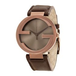 Gucci-YA133207-Mens-Interlocking-G-Brown-Quartz-Watch