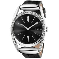 Gucci-YA139403-Womens-139-Horsebit--Black-Quartz-Watch