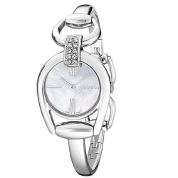 Gucci-YA139504-Womens-Horsebit-White-Quartz-Watch