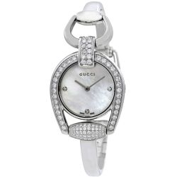 Gucci-YA139505-Womens-Horsebit-White-Quartz-Watch