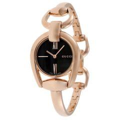Gucci-YA139507-Womens-Horsebit-Black-Quartz-Watch
